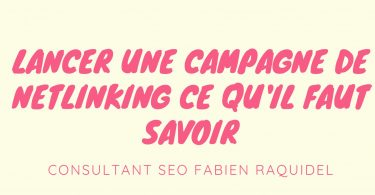 lancer une campagne de netlinking seo
